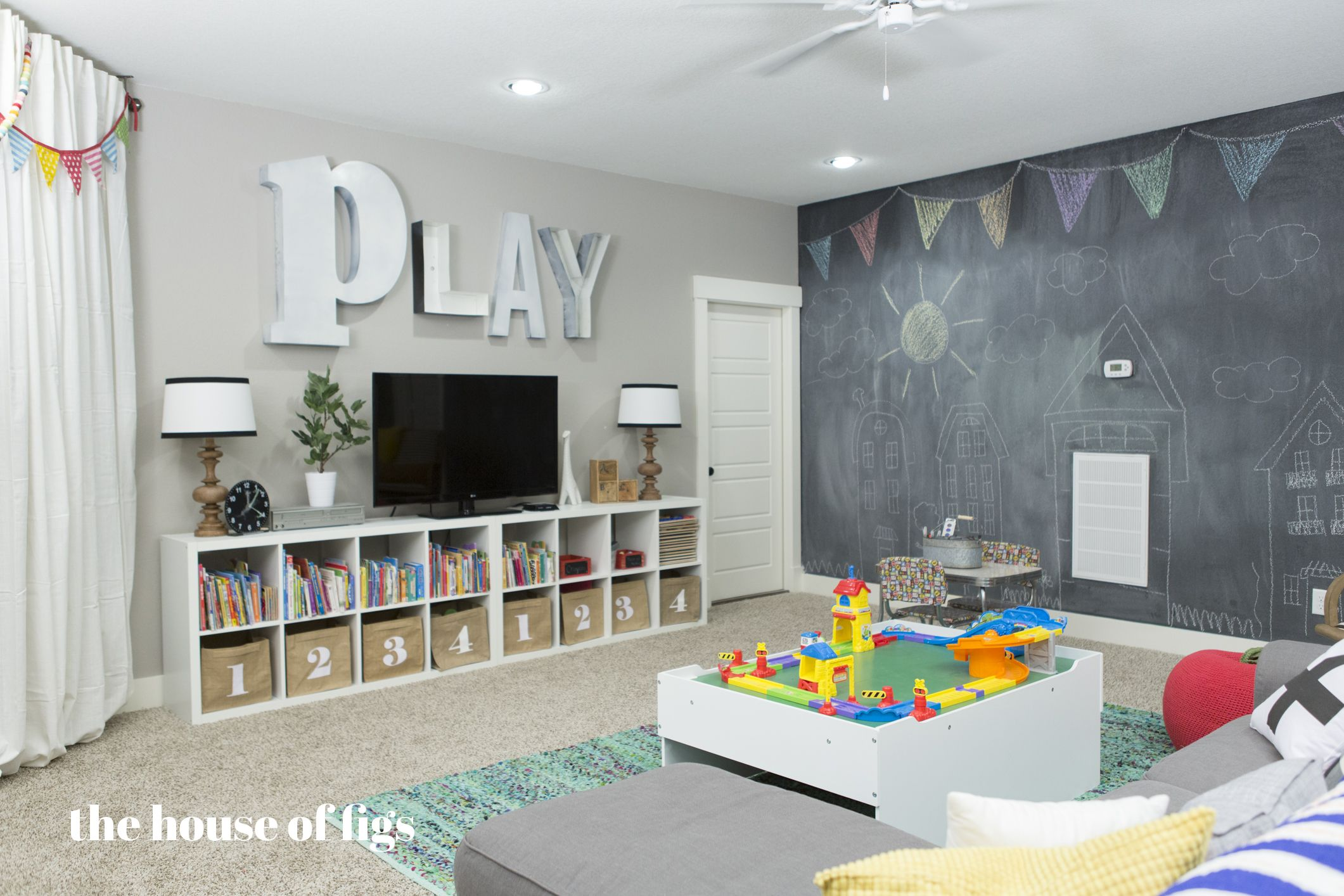 Playroom Chalk Wall, Stage // The House Of Figs | Playroom | Sala De