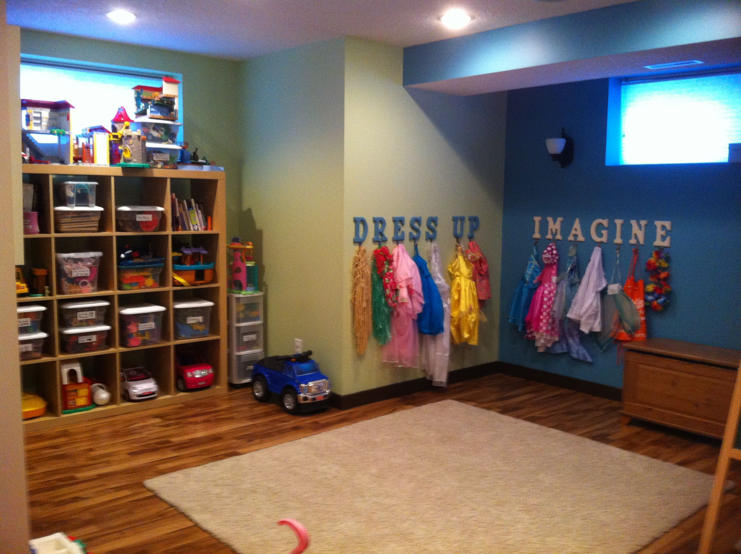 Kids Playroom-i Love The Dress Up Hooks, Instead Of The Messy