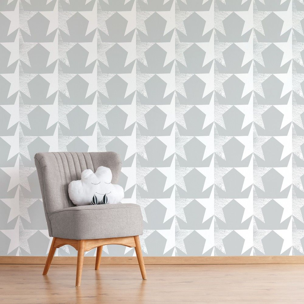 Add A Fun Backdrop To Your Child's Room Or Playroom With This Gray