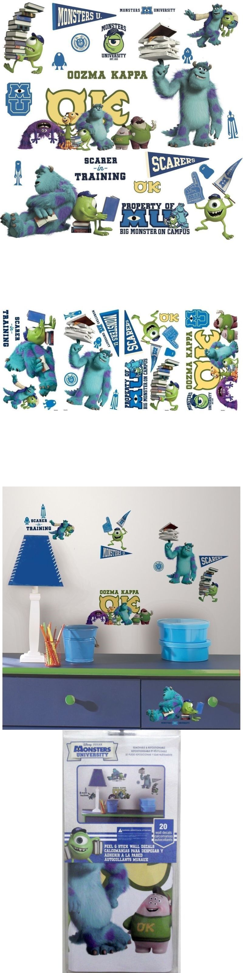 Bedroom Playroom And Dorm D Cor 115970: Monsters University 20 Wall