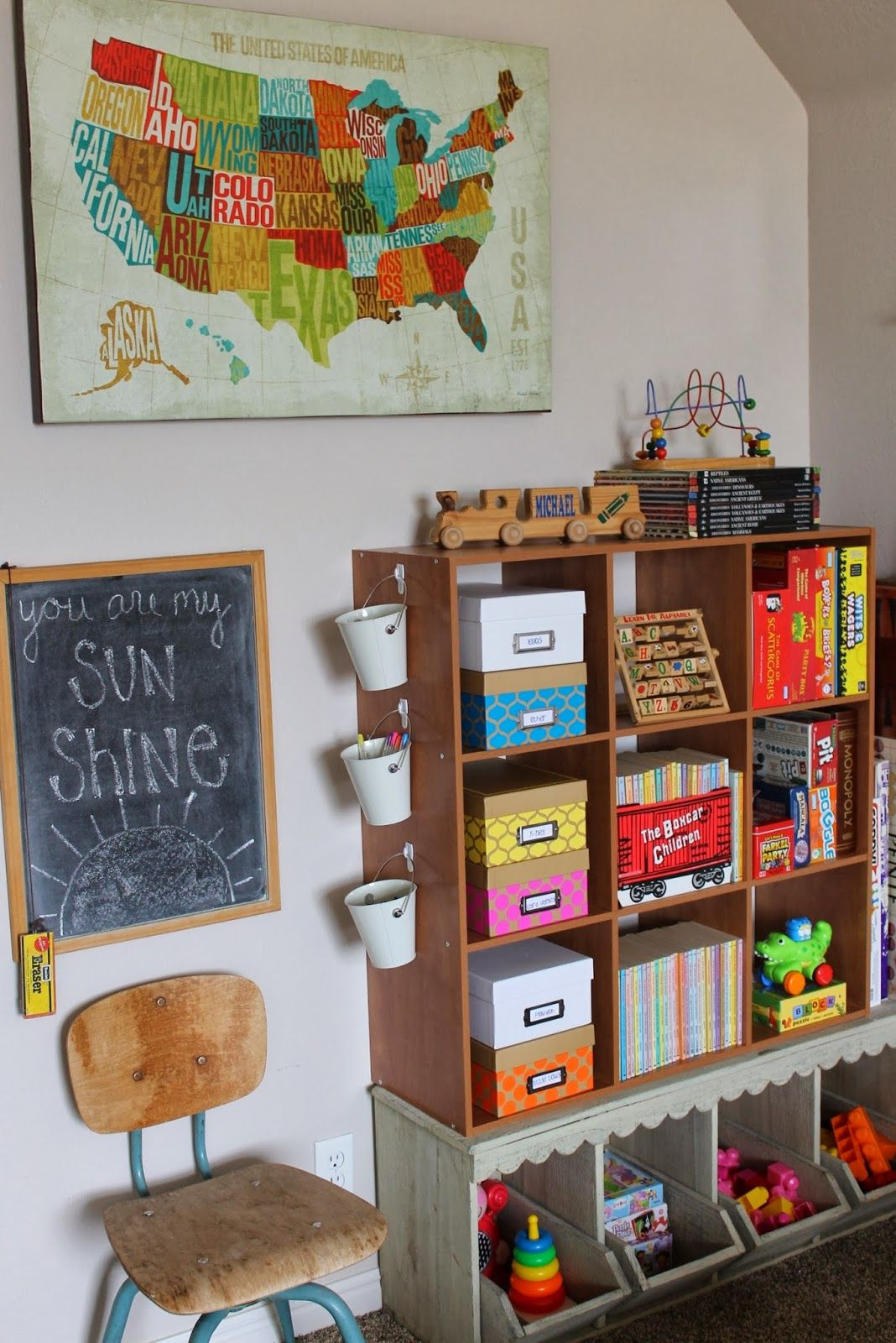 Rustic Living: Our Kids Playroom Reveal Obsessed With This Room