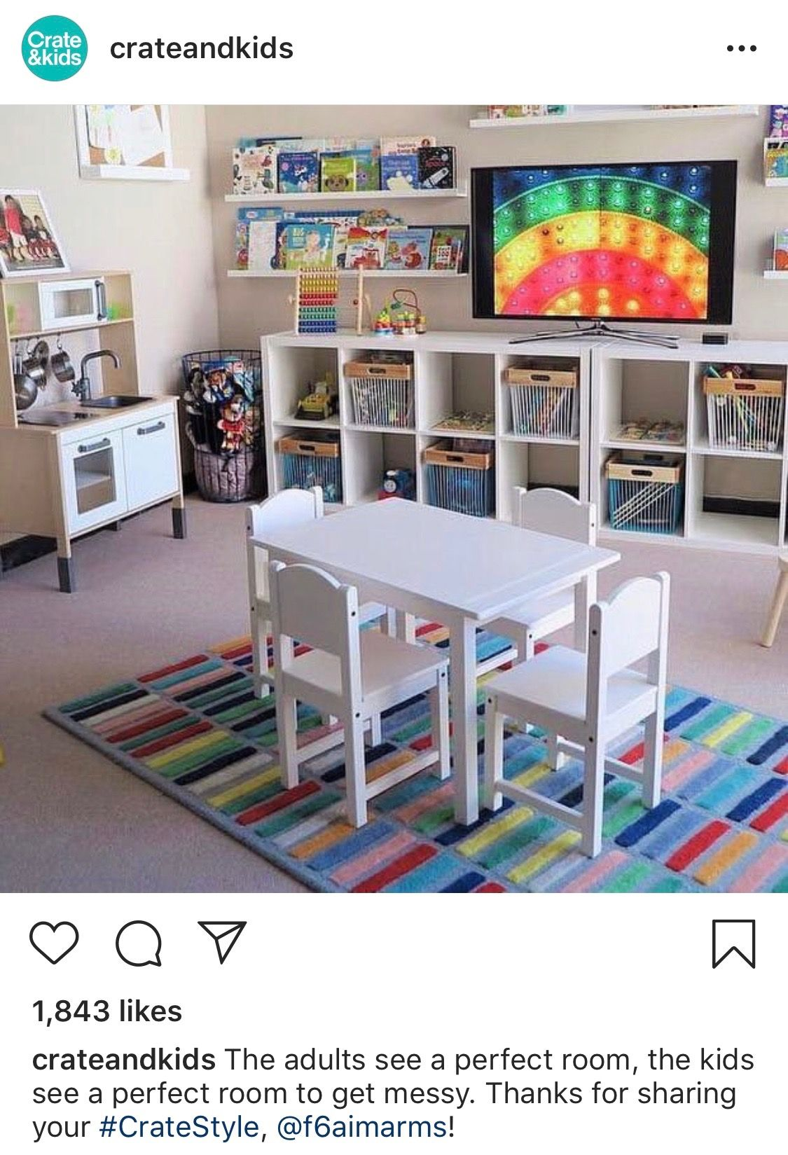 Pin By Leslie Iniguez On Home | Crates, Playroom, Thanks For Sharing