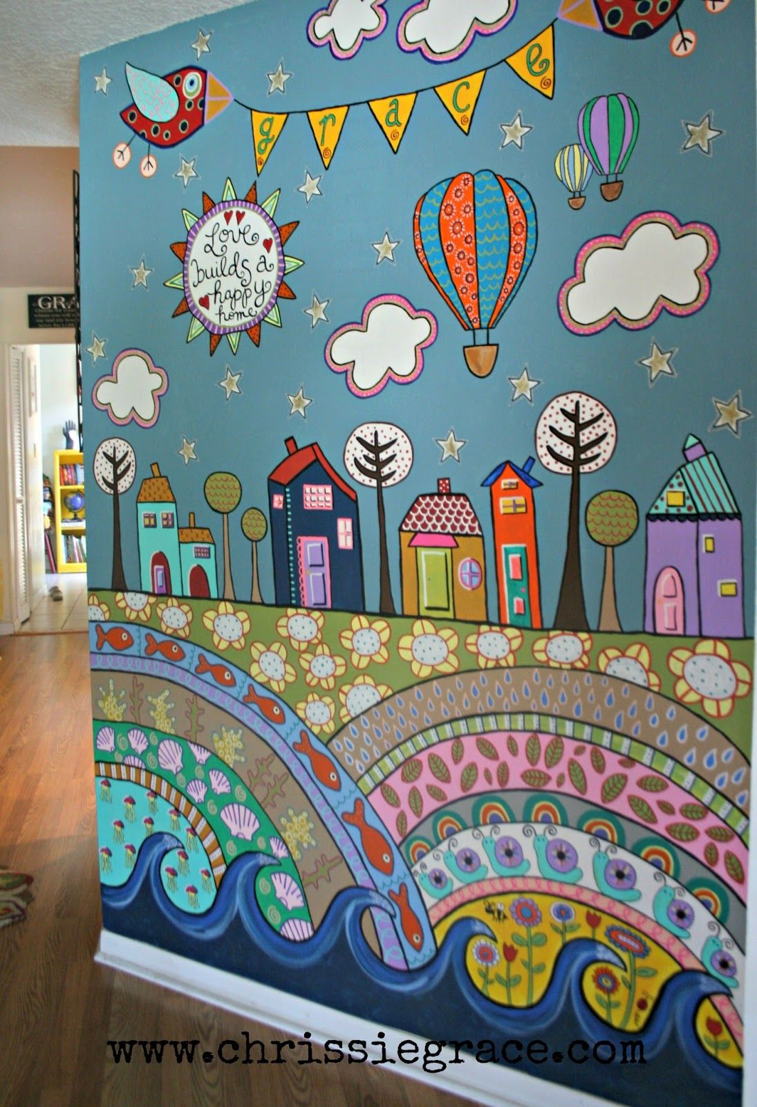 Painted Wall Mural Using Acrylic Craft Paints:)   Playroom   School