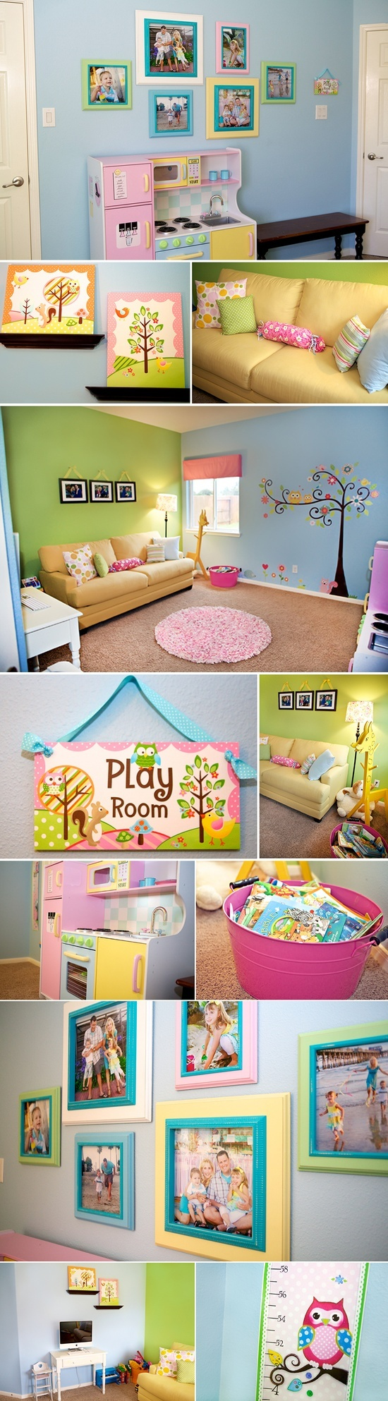 I Want To Copy This Idea For The Playroom, But Replace The Owl Tree
