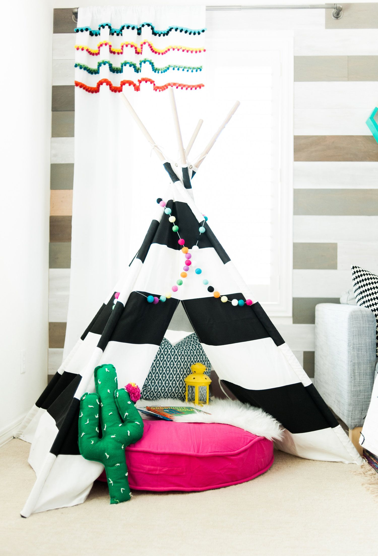 Colorful Playroom Design With The Land Of Nod | Playroom Tv Room