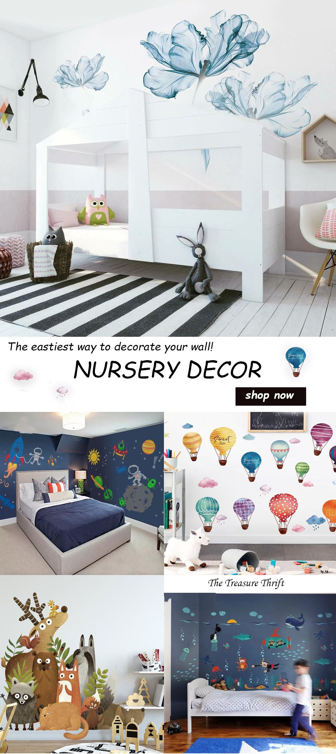 Decor Ideas For Baby Nursery, Bedroom And Playroom! Peel And Stick