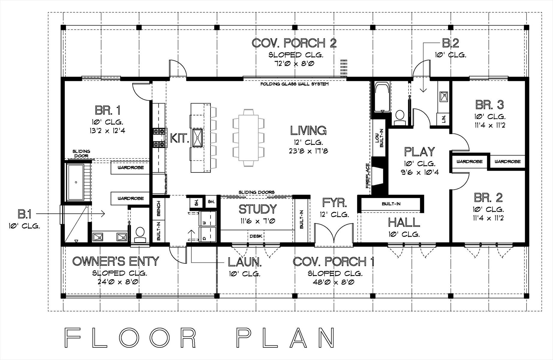 Floorplan For The New Home- 3 Bed/2 Bath/study/playroom 2nd Bedroom