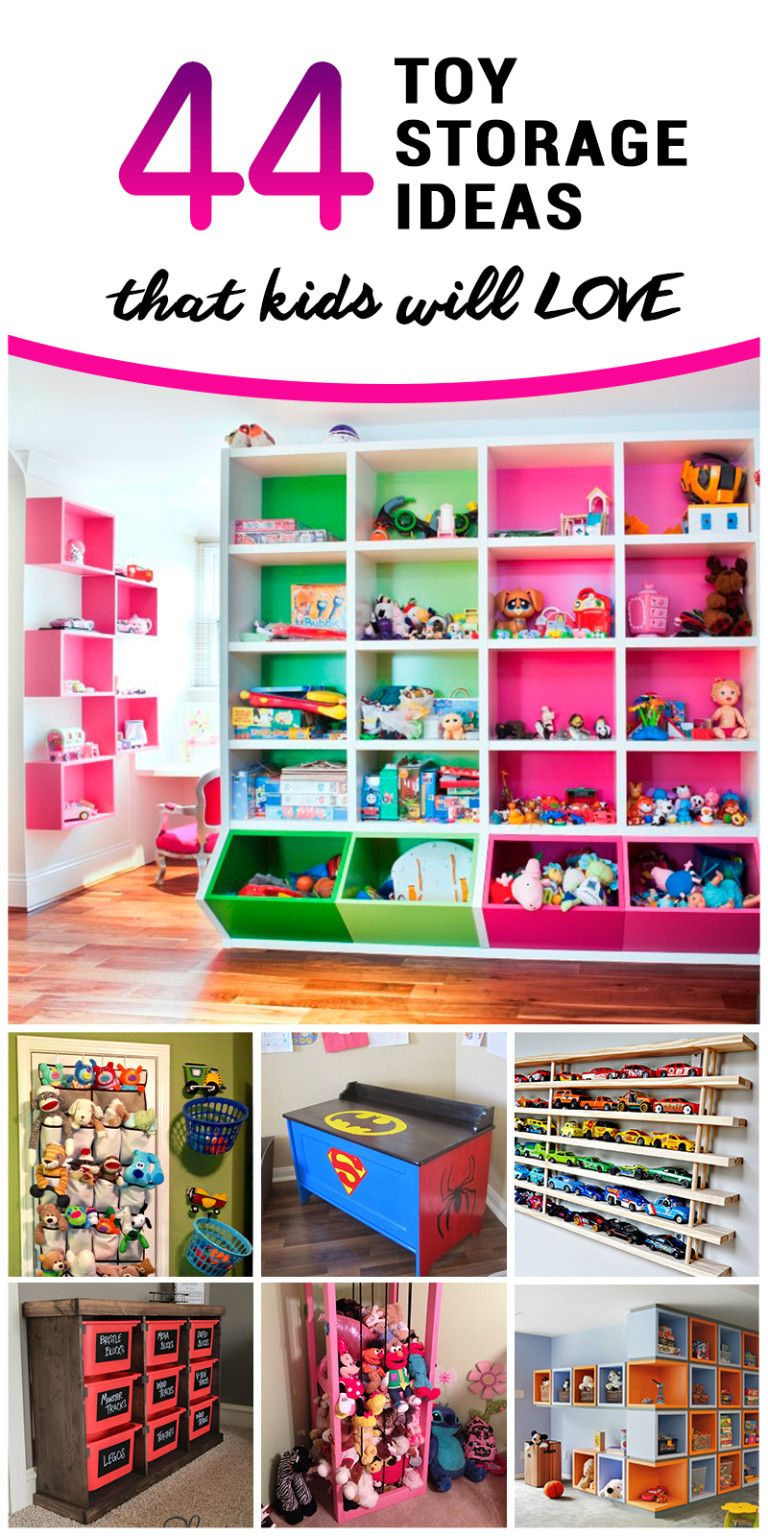 Toy Storage Ideas For Kids   Playroom   Living Room Toy Storage
