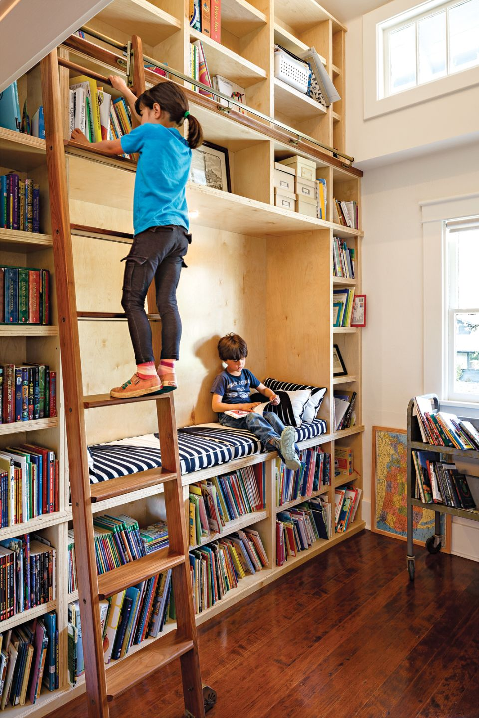 A Perfect Home Library? | Playroom | Home Libraries, Library Ladder