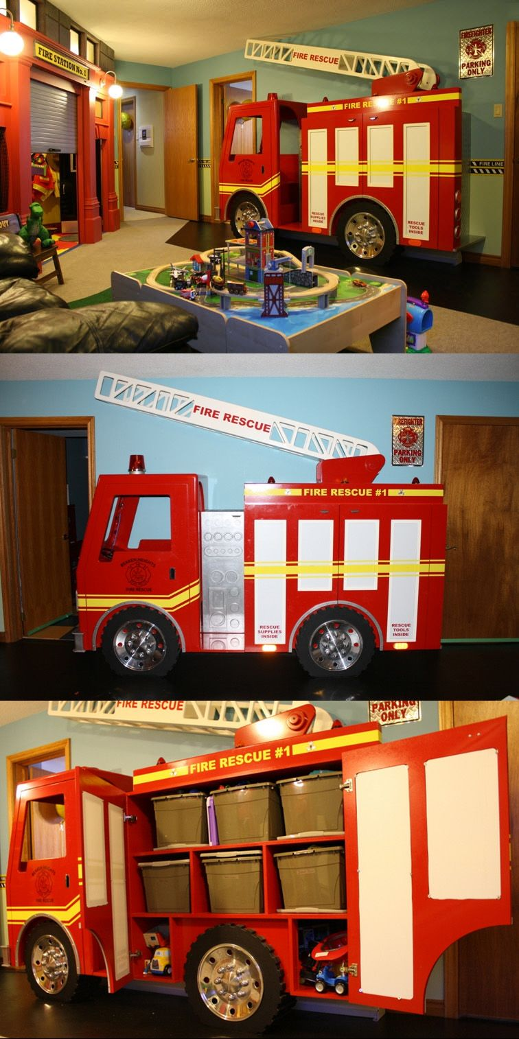 Fire Station-themed Playroom | Shared By Lion | Toddler Activities