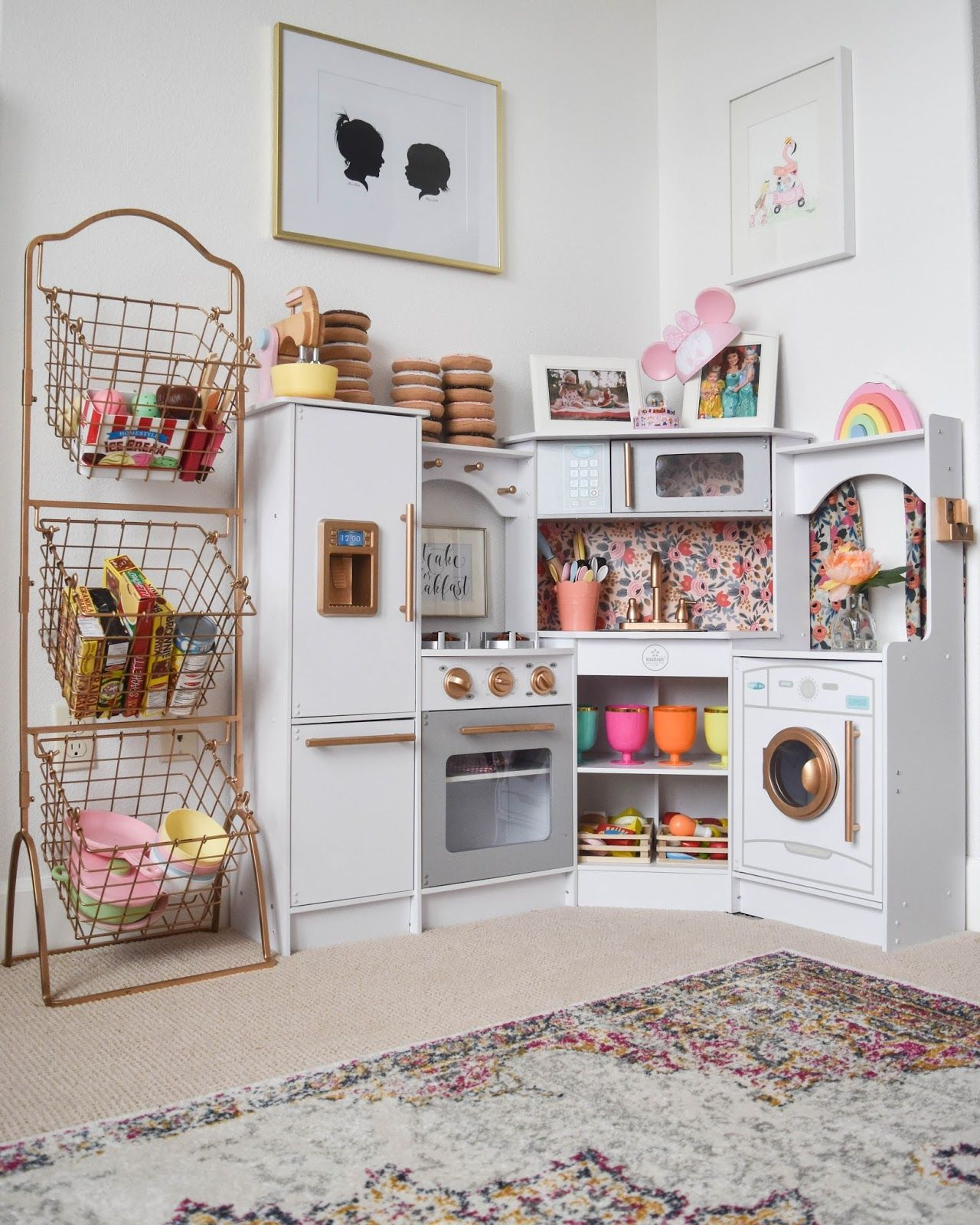 Tea Cart | Basement Ideas | Kids Bedroom, Playroom Storage, Playroom