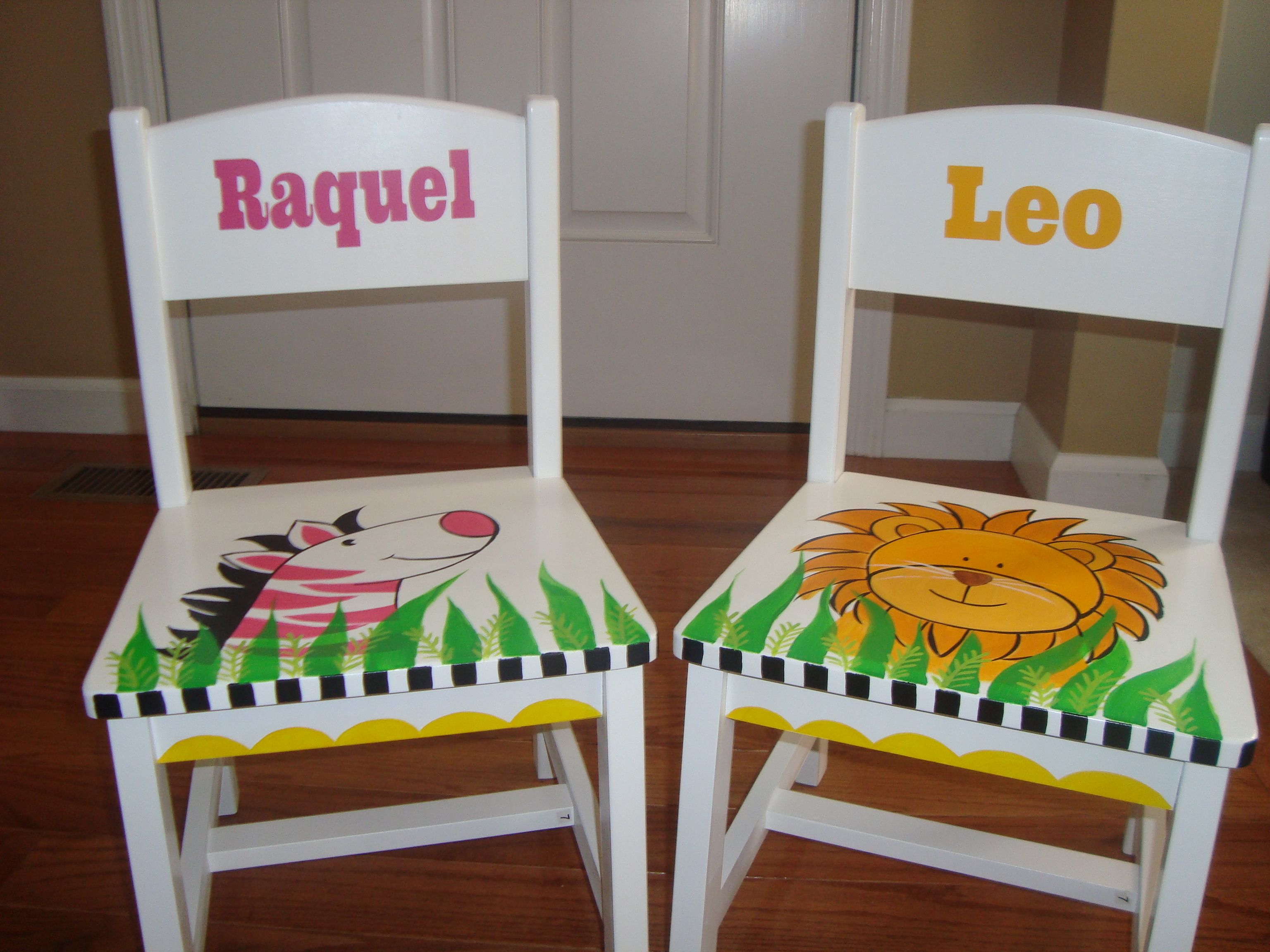 Hand Painted Nursery Playroom Chairs By Kelly Sieckhaus | Kelly