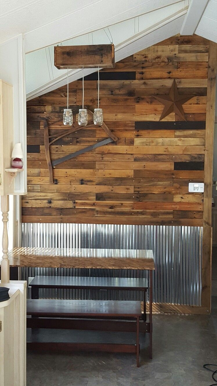 Corrugated Metal | Camp Playroom | Wainscoting Kitchen, Dining Room