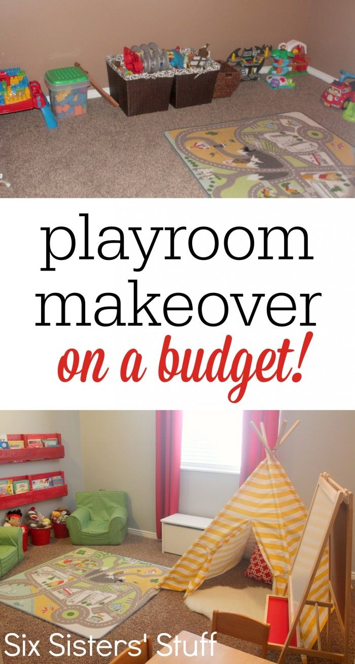 Check Out Our Kid's Playroom Makeover On A Budget! A Few Small