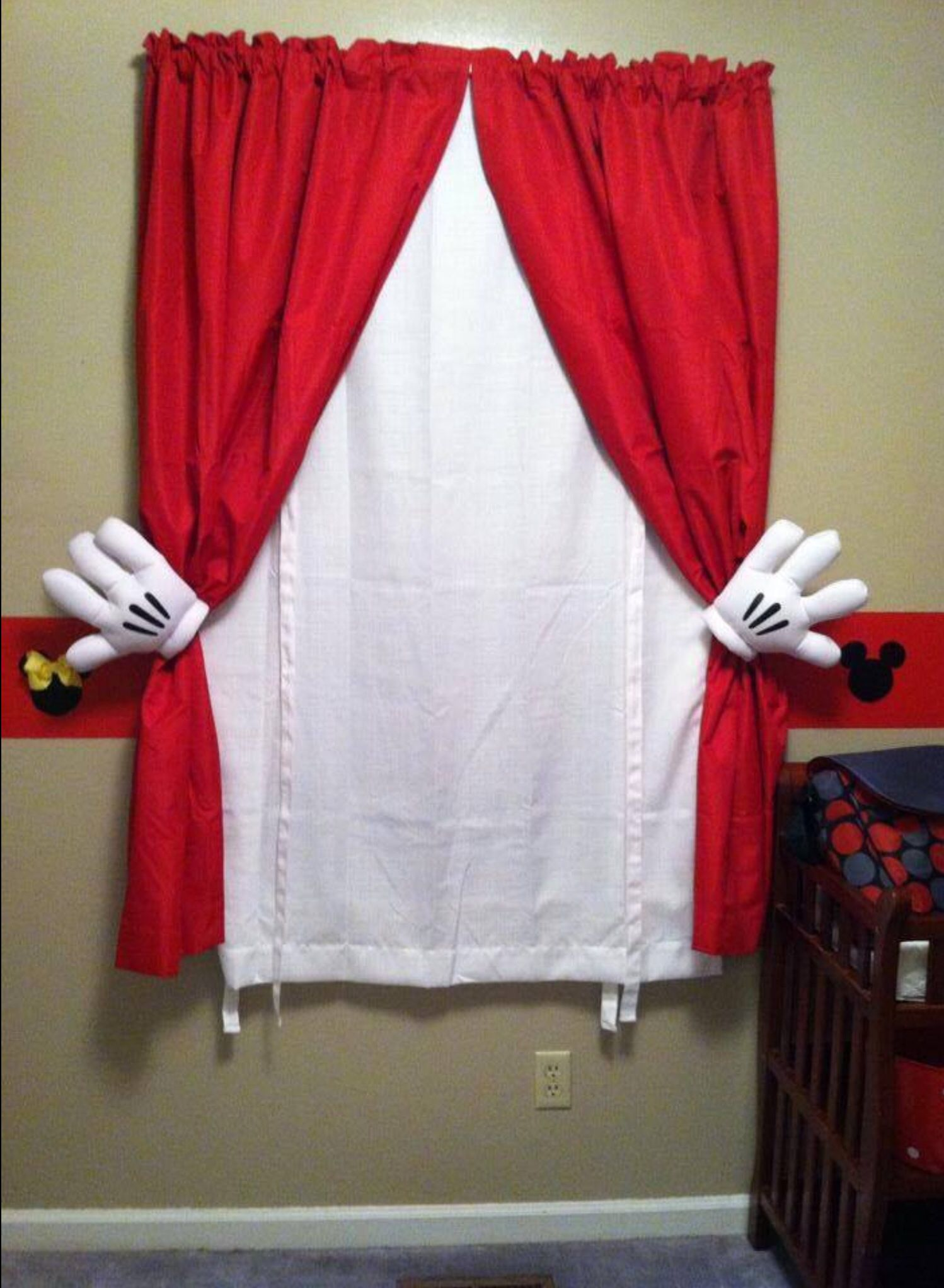 Mmmmmm   Rogelio's Room/playroom   Mickey Mouse Curtains