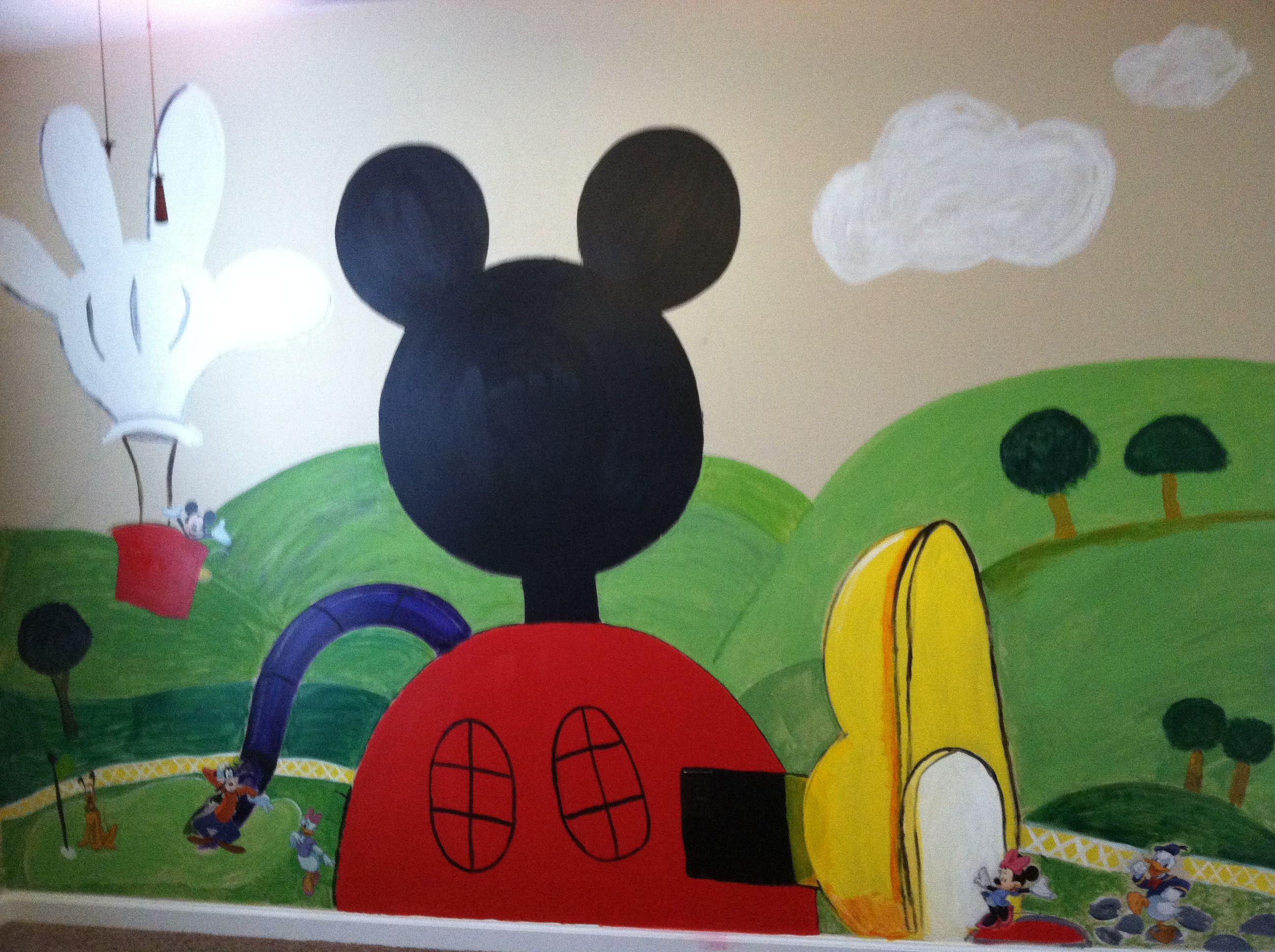 Mickey Mouse Clubhouse Playroom Wall | Mickey Mouse Bedroom