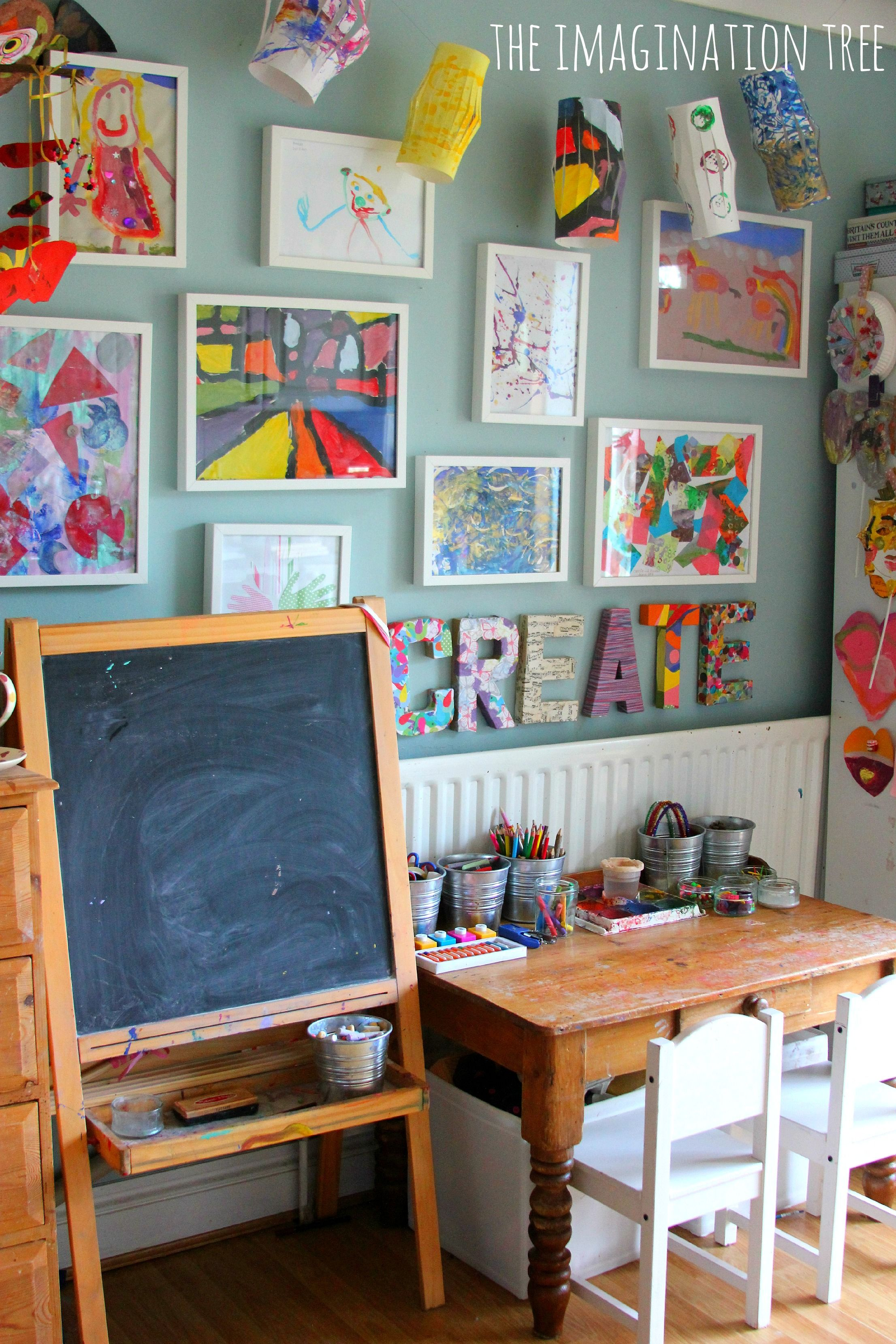 Creative Arts Area And Gallery For Kids   Basement/playroom