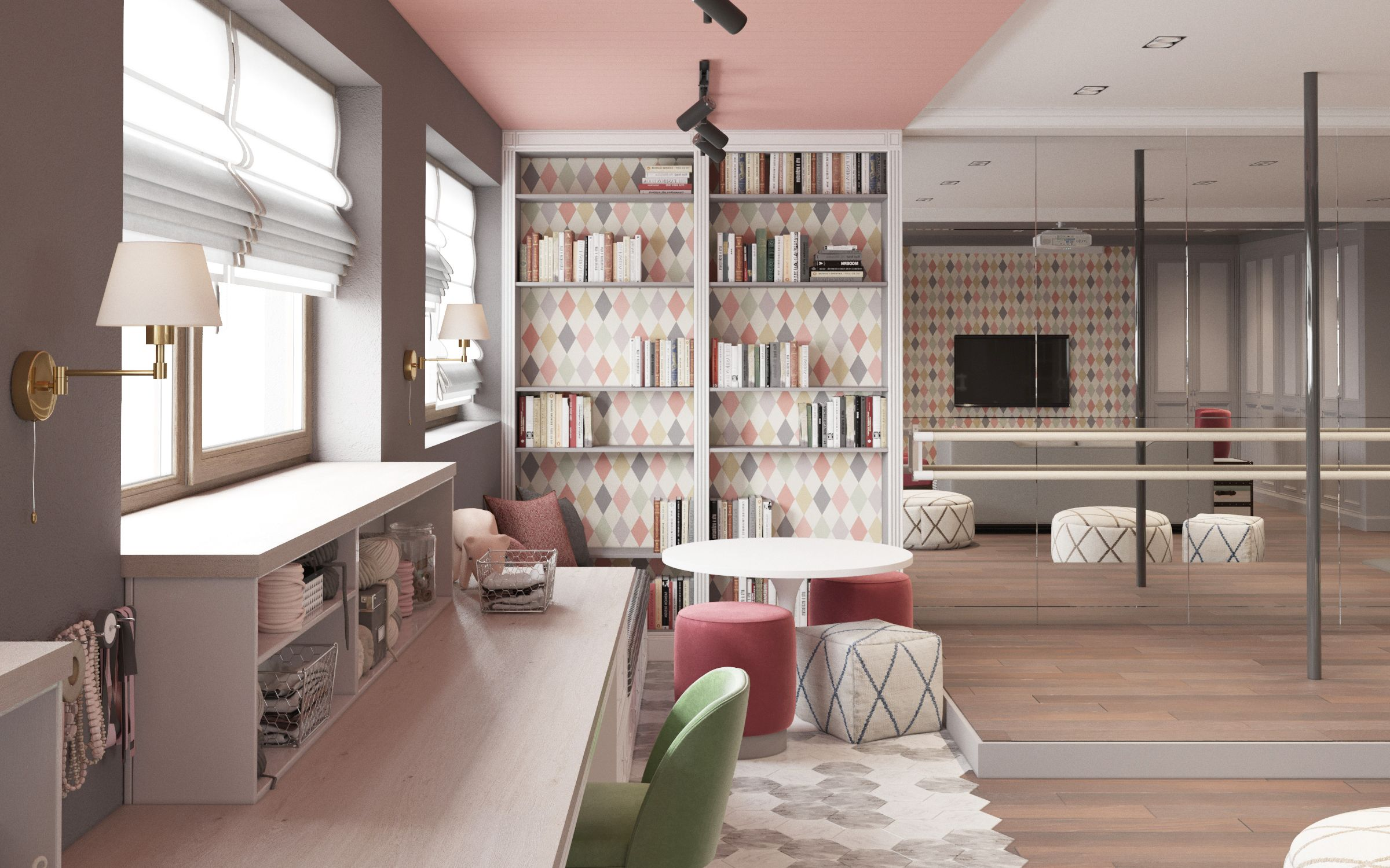 Playroom On Behance | Home Office Designs In 2019 | Home Office