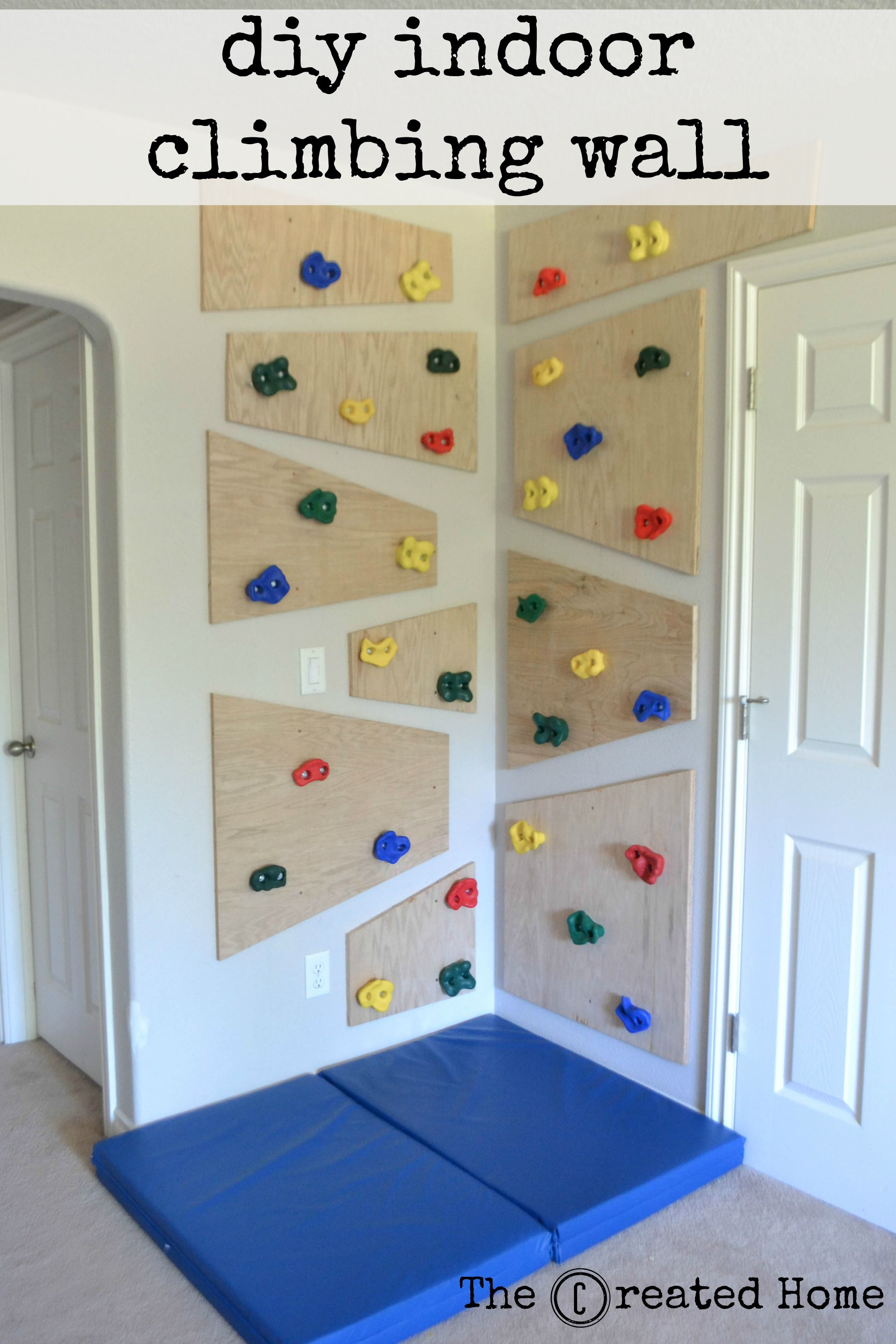 How To Build A Simple, Adaptable Indoor Climbing Wall | Playroom