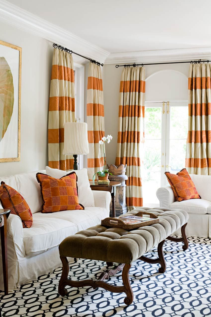 Playroom/sunroom? | For The Home | Curtains, Striped Curtains, Home