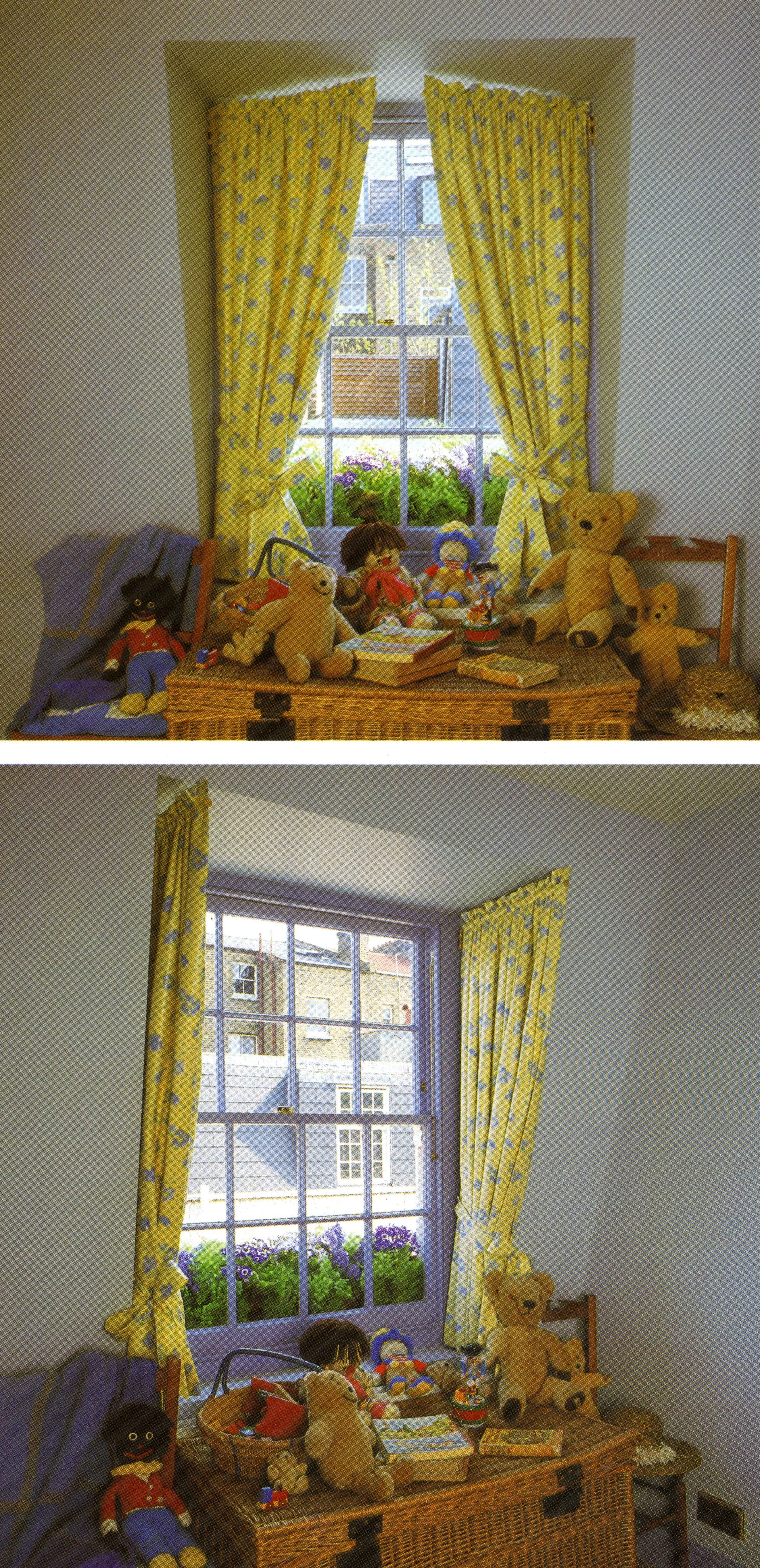 Cute Curtains For The Playroom Window Seat | Cortinas