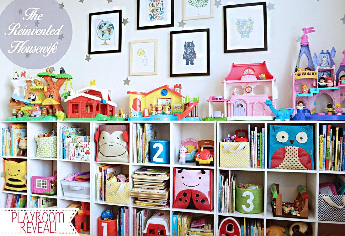 Colorful, Modern Playroom Reveal From The Reinvented Housewife! Toy