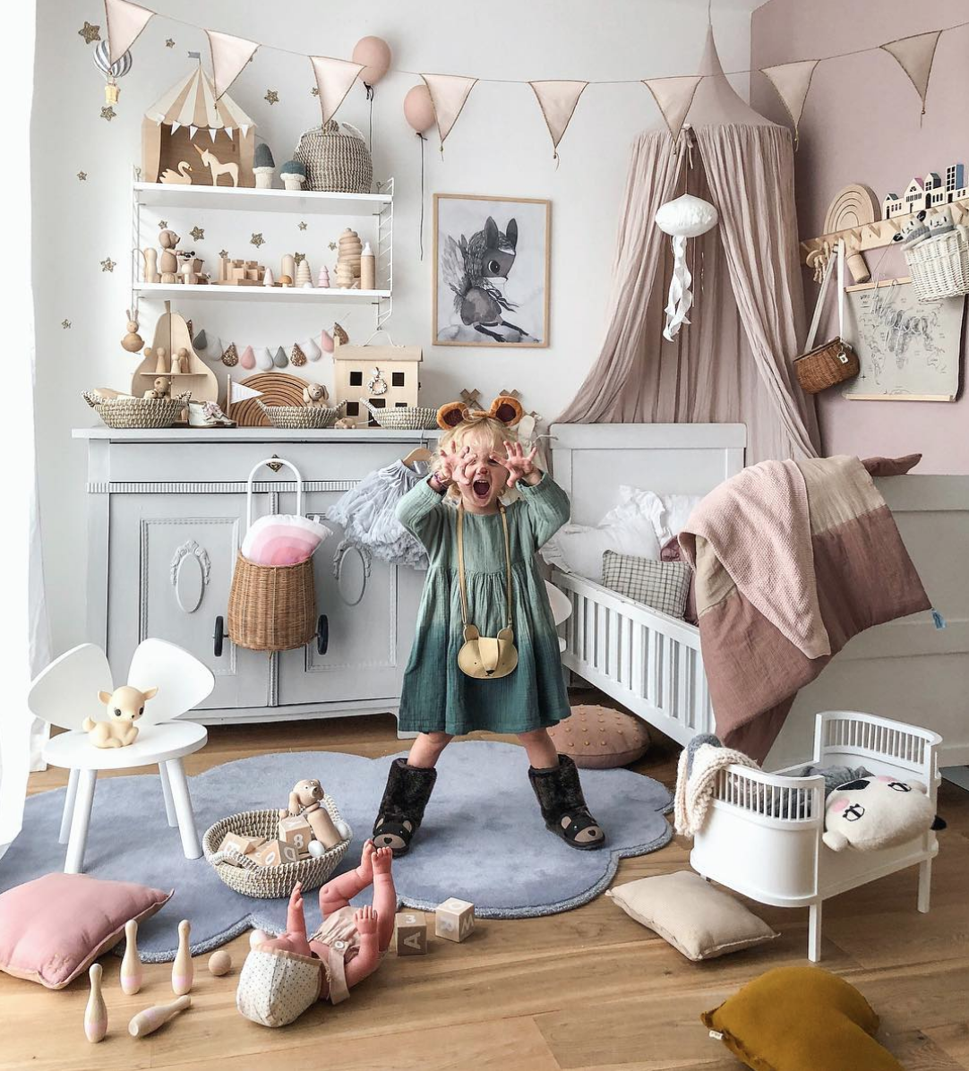 How Beautiful Is This Whimsical And Creative Nursery And Playroom By