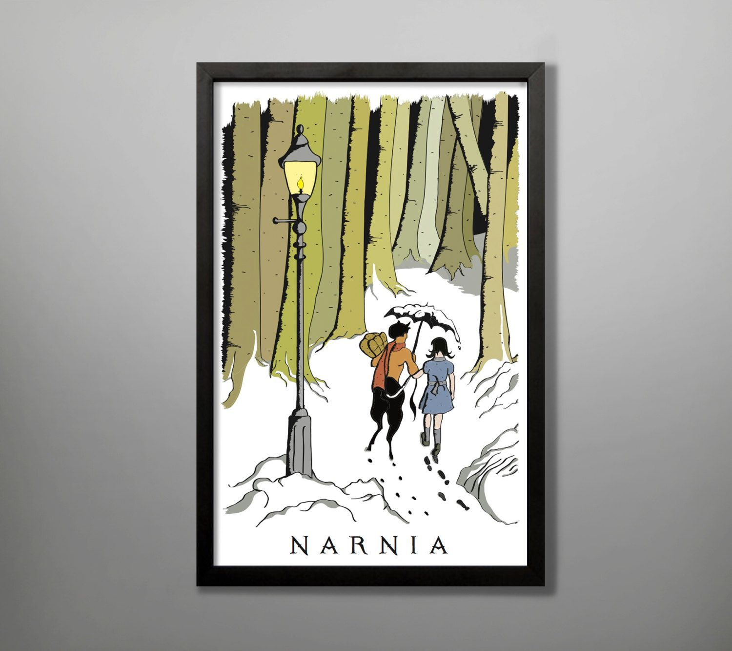 Narnia Travel Poster By Baytreedesigns On  | Playroom