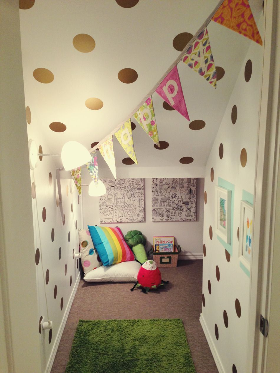 Polka Dot Wall Decals   Playroom Ideas   Under Stairs