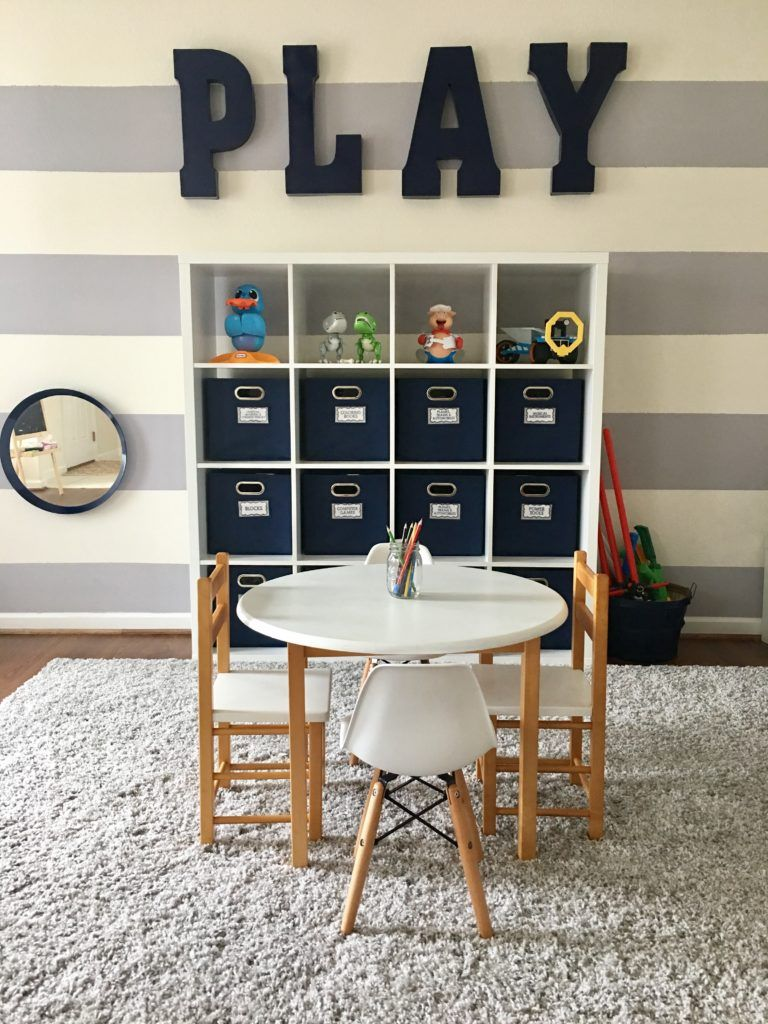 Boys Playroom By Ashleigh Nicole Events | Navy, Gray And