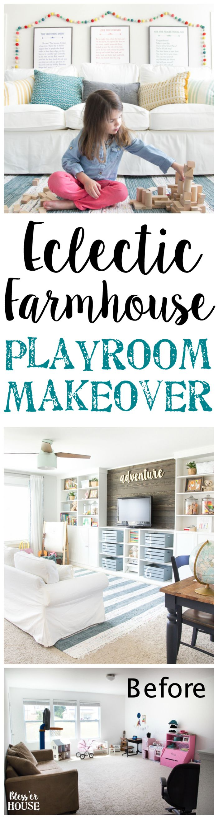 Eclectic Farmhouse Playroom Reveal & Orc Week 6   Playroom
