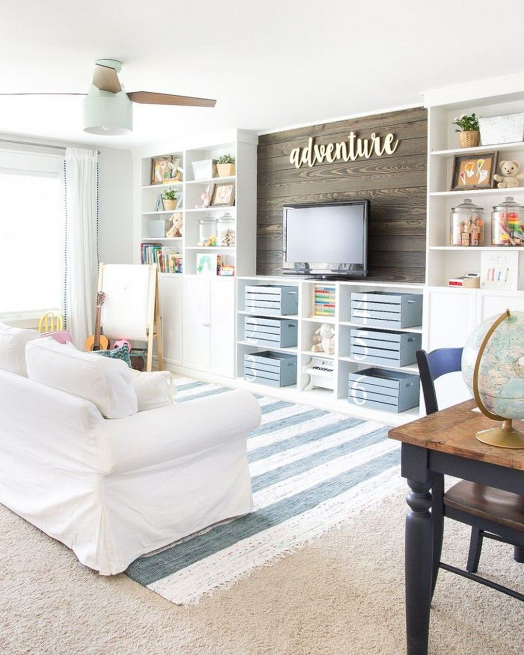 18 Eclectic Farmhouse Playroom Reveal & Orc In 2019   Kids