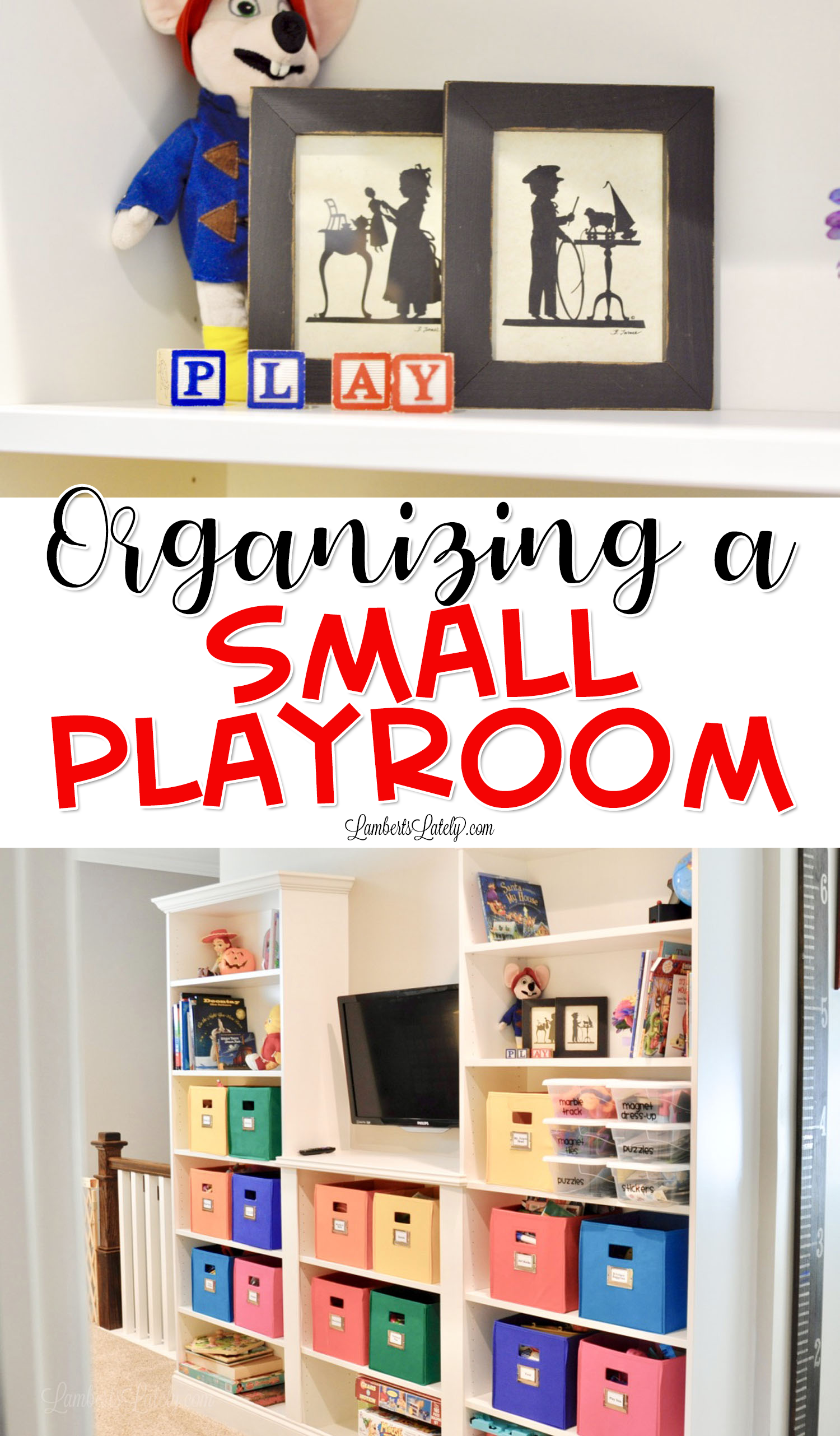 How We Organized Our Small Playroom | Planners, Printables