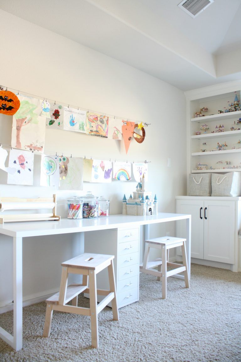 Playroom Makeover With Built Ins   Playroom Bed   Office