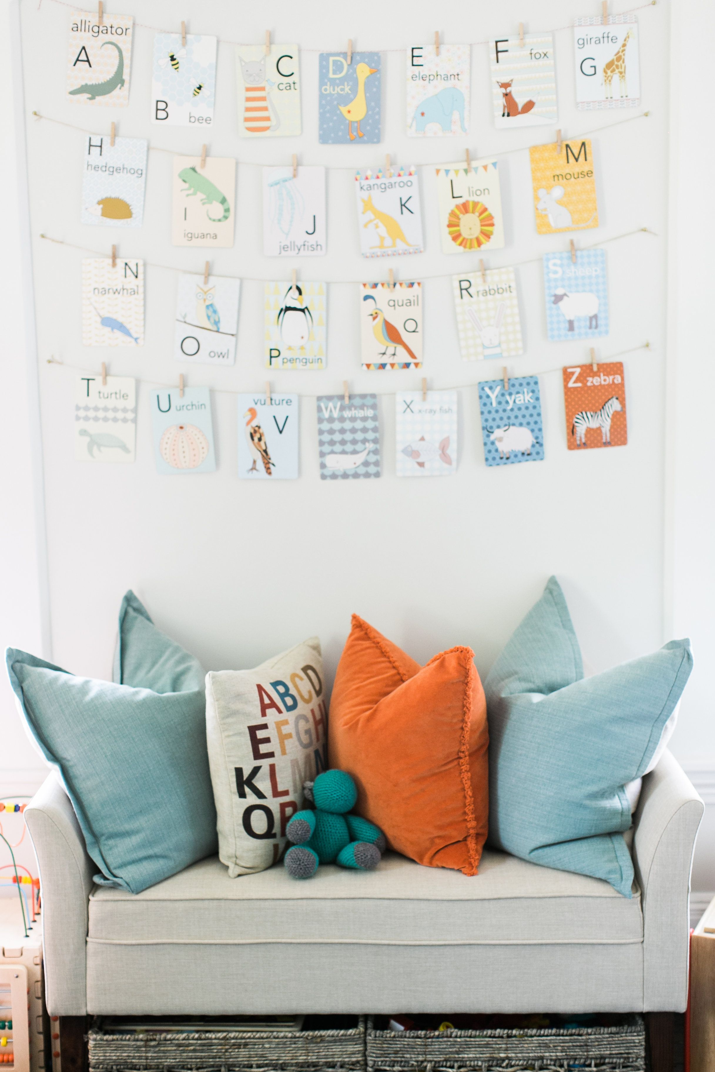 Love The Flash Cards In This Cute Playroom By Finding Lovely