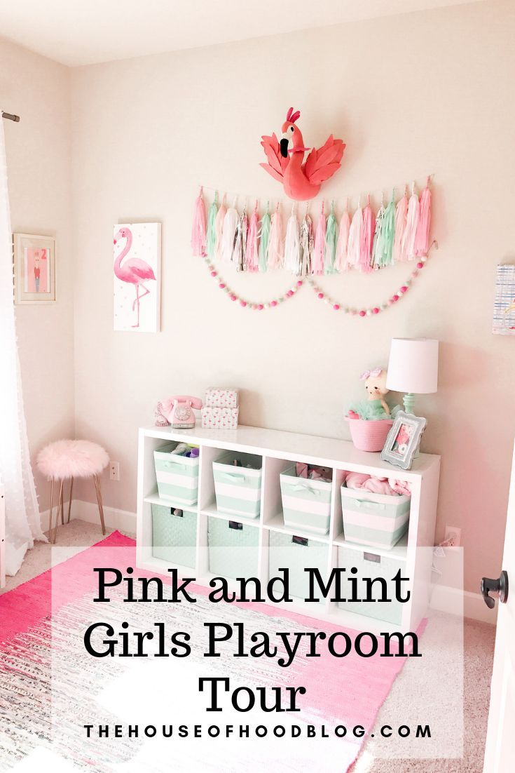Pink And Mint Girls Playroom Tour   Girly Toddler Room Ideas