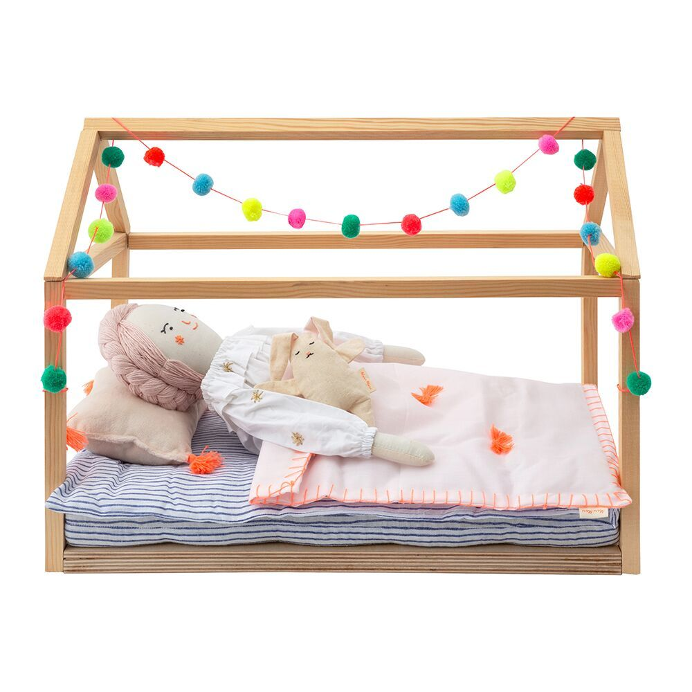 Wooden Dolls Bed | Playroom & Nursery | Doll Beds, Wooden