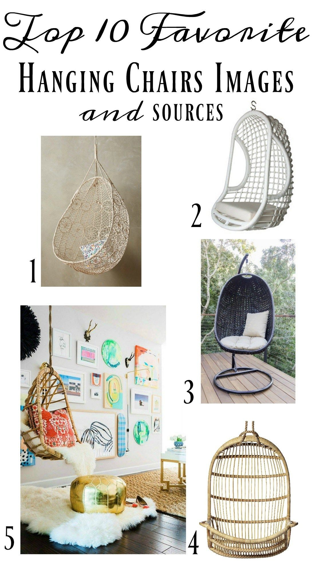 Hanging Chairs- Add Some Character To Your Home | Playroom