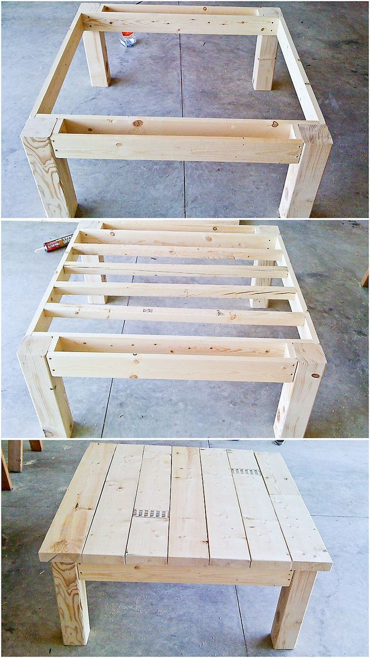 Table From Pallet Wood Interesting Apron Design | Playroom