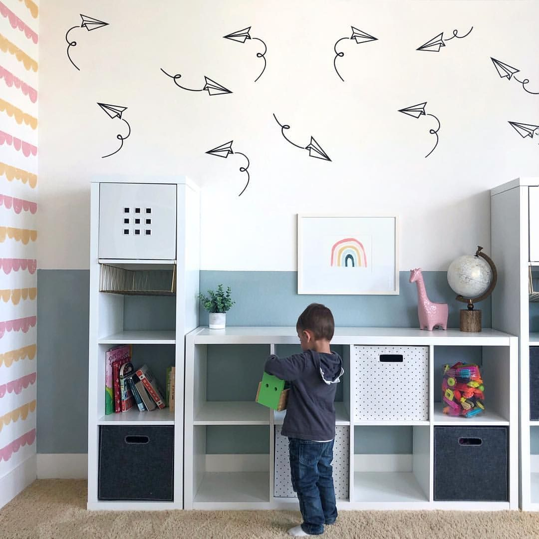 How Fun Are These Paper Planes? Playroom Decor, Kids Room