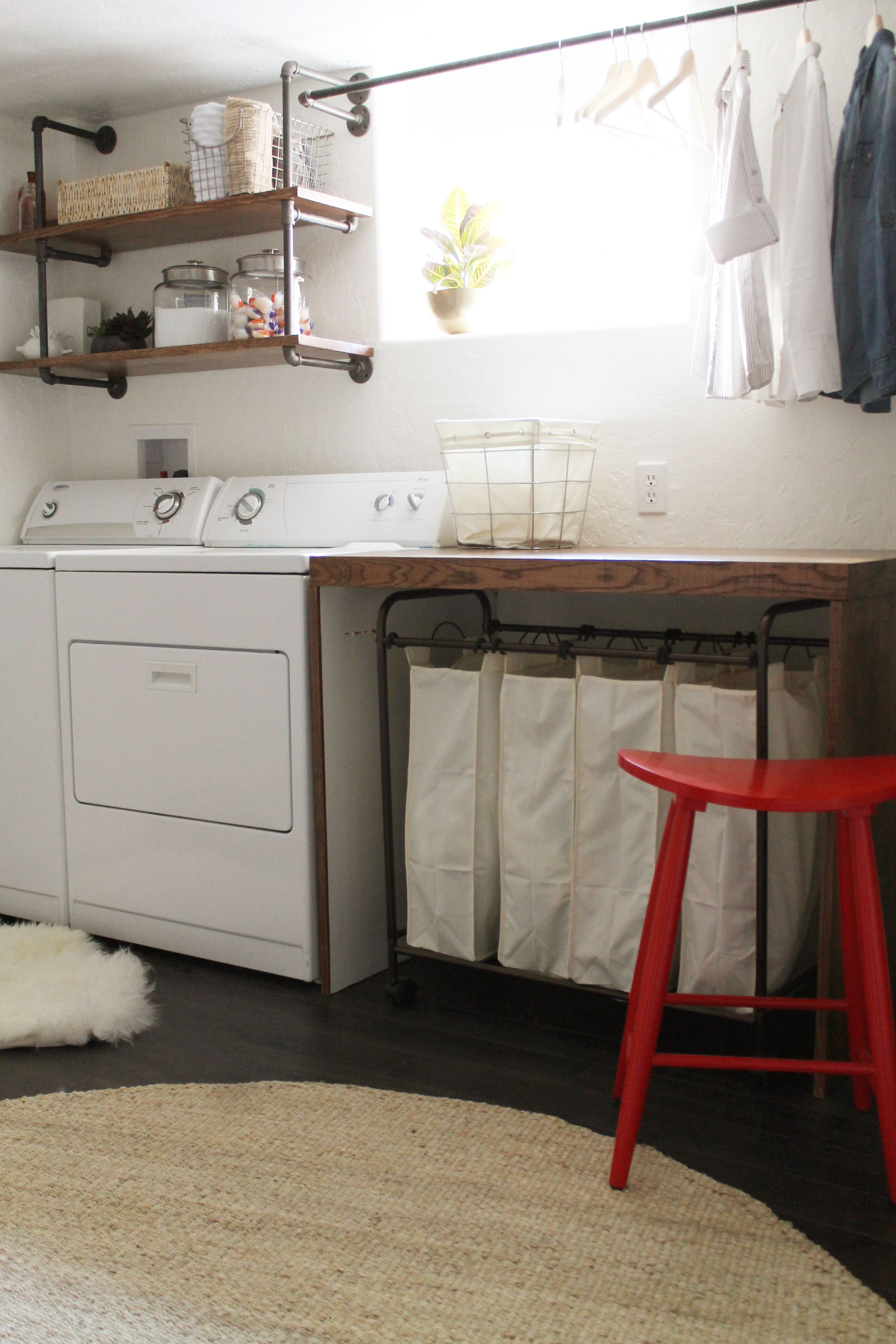 Before And After: Pugmire Laundry Room | Basement/playroom