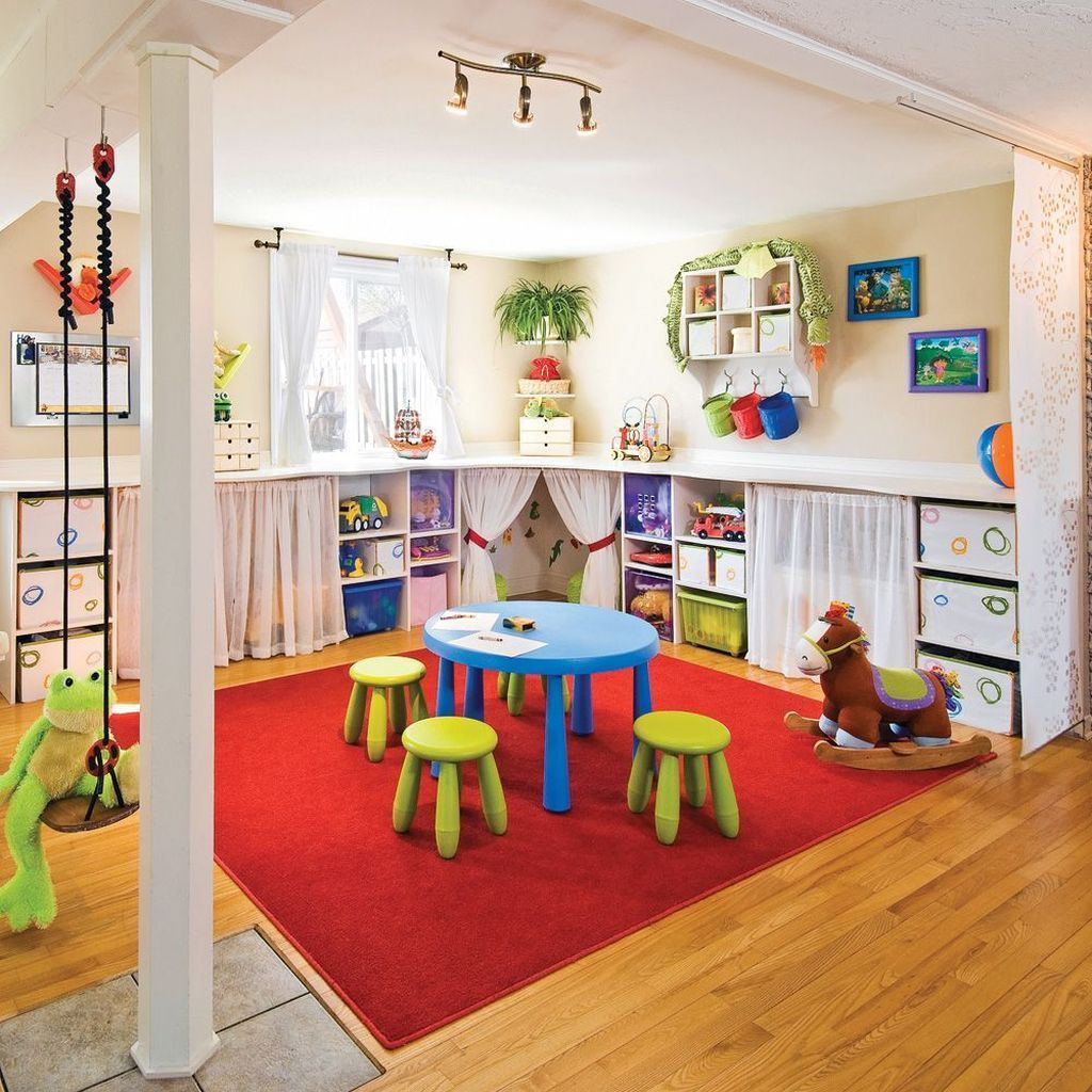 Stunning Basement Playroom Ideas For Your Kids 38 | Play Room