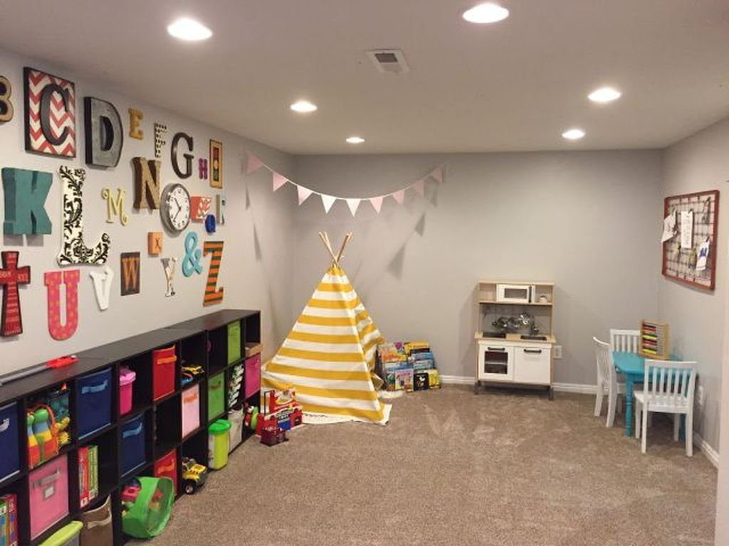 Stunning Basement Playroom Ideas For Your Kids 24 | New House
