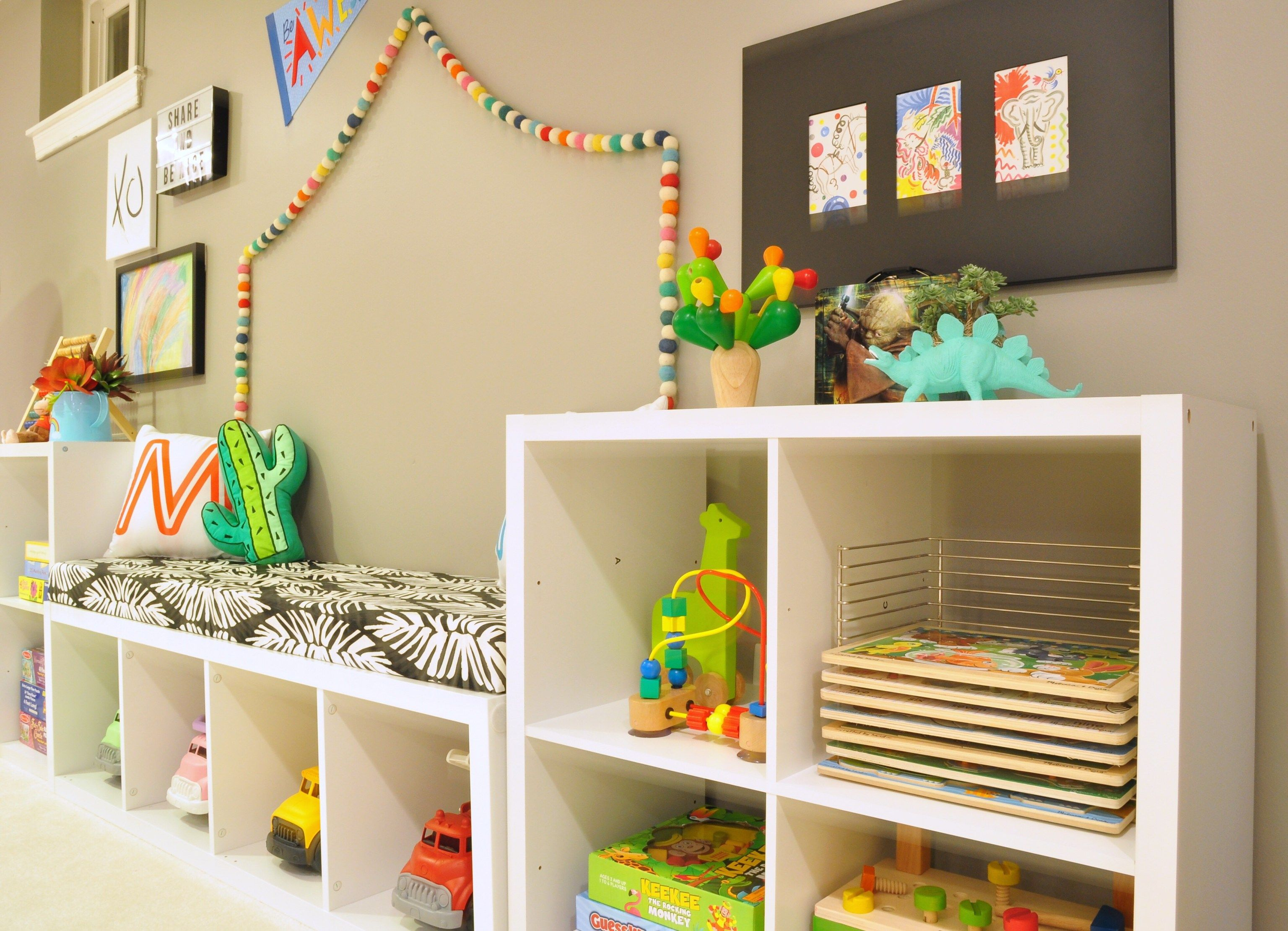 Before And After: Our Basement Playroom + Tv Room Reveal | Joint