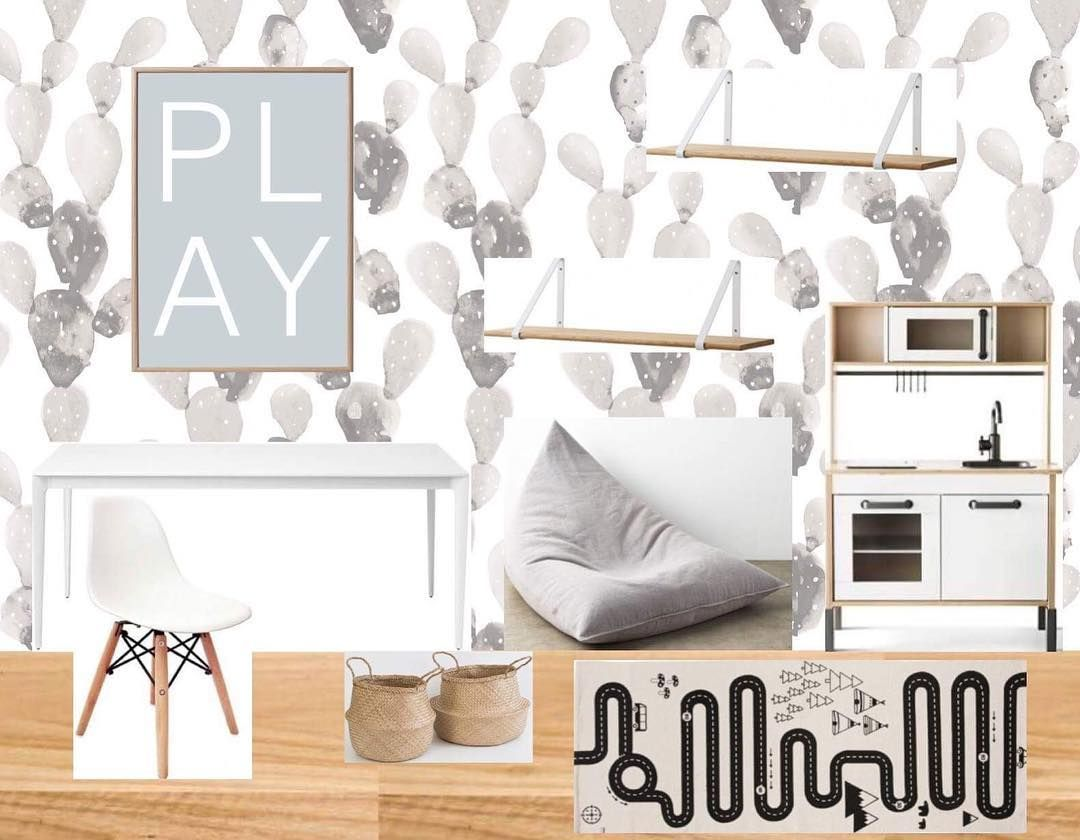 Playroom Design Board For Our Coastal Style Home With