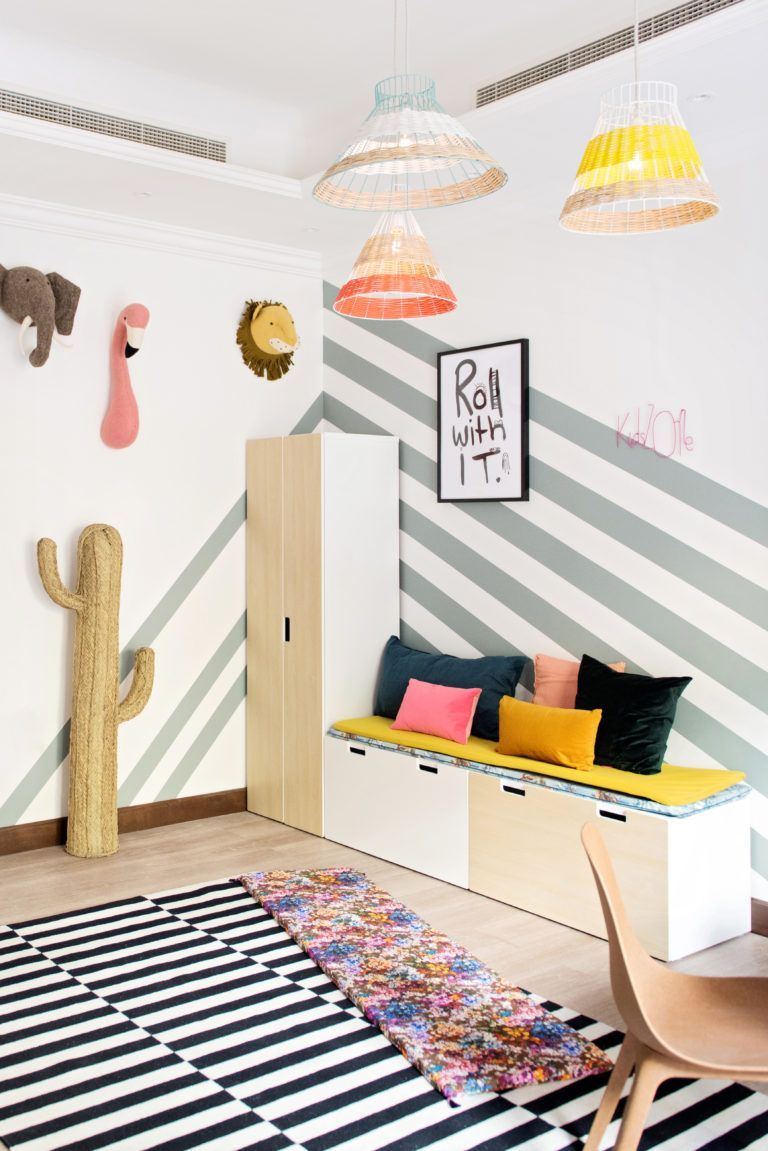 Such A Colorful And Fun Playroom Full Of Exotic Animals In