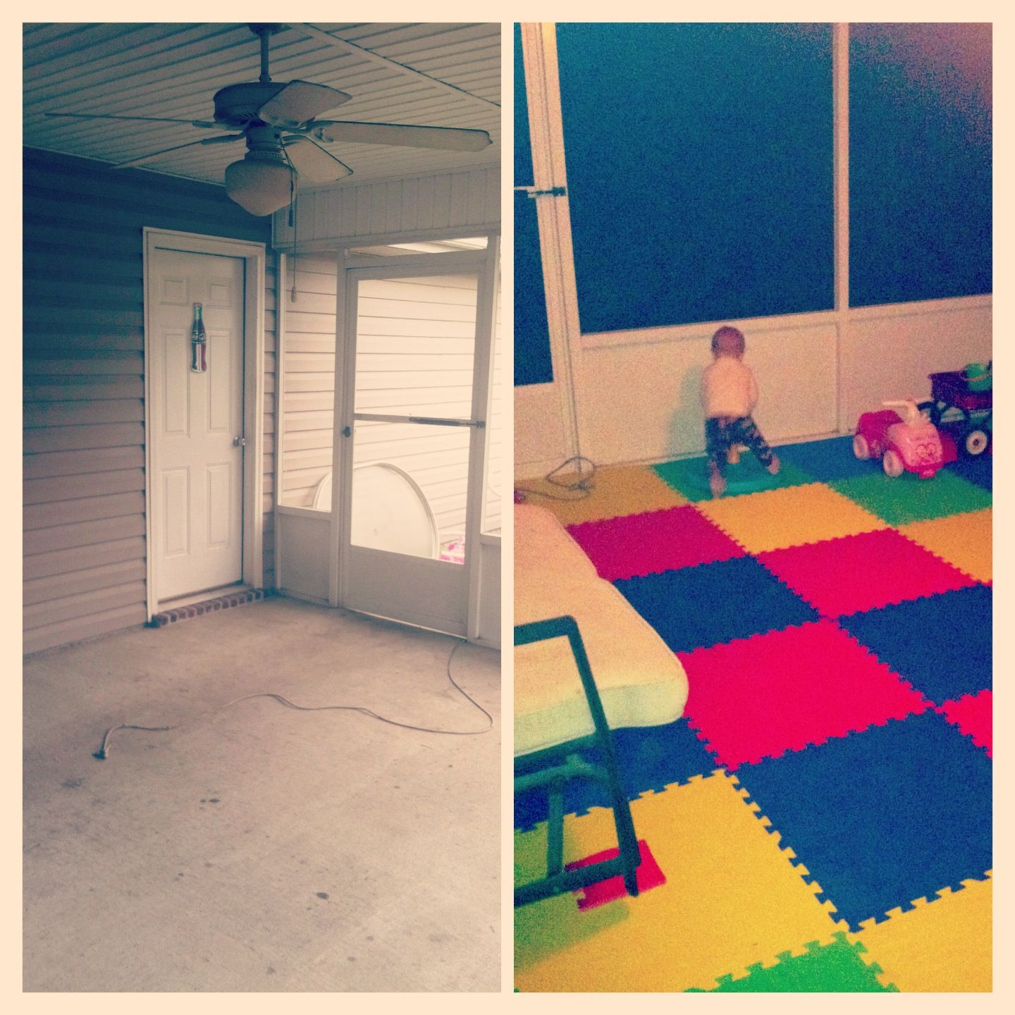 Transform Screened In Back Porch To A Playroom By Adding