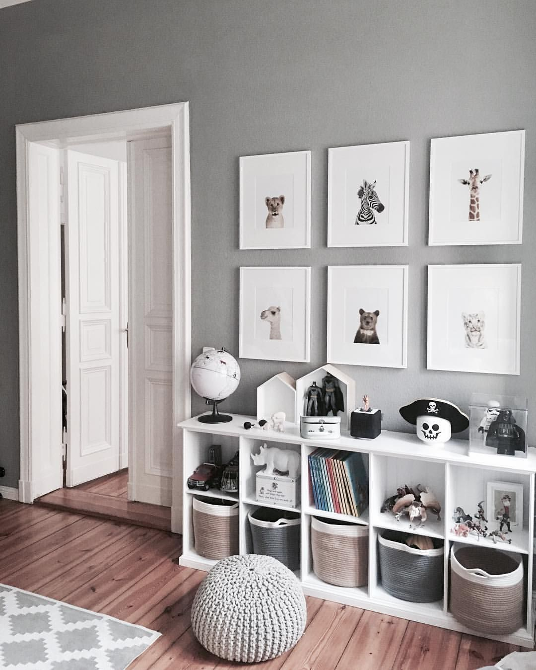 Grey And White Bedroom Decor Playroom Cube Bookshelves For