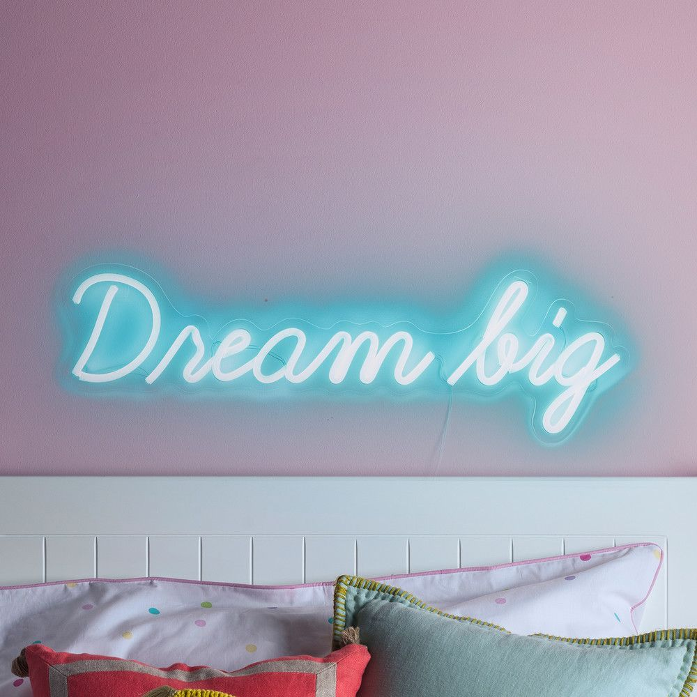 Dream Big Neon Sign Wall Light | Playroom In 2019 | Neon