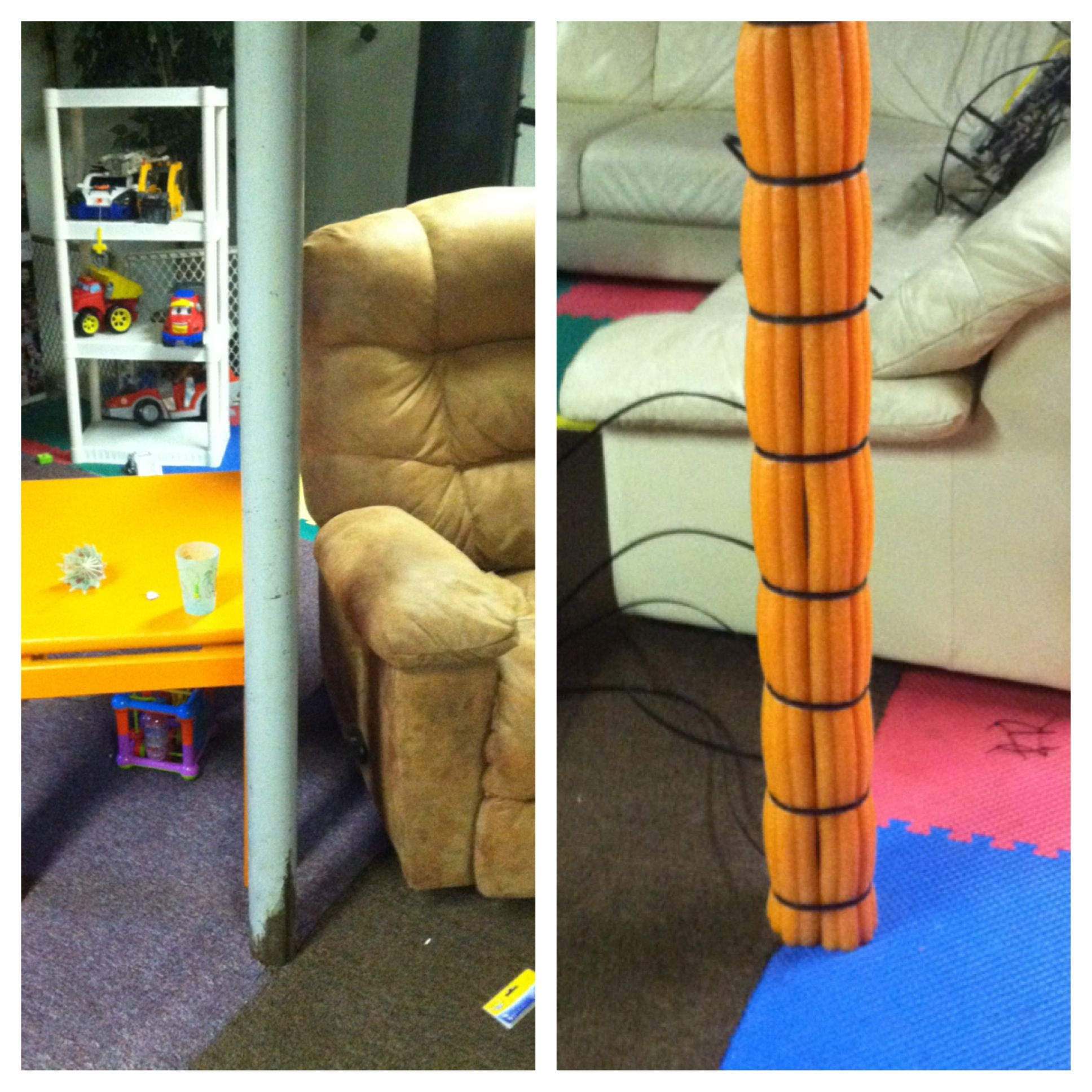 Inexpensive Solution In Our Playroom, To Cover The Metal